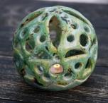 Глиняный керамический подсвечник