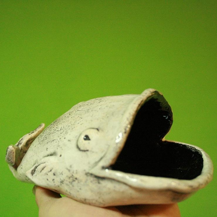 Керамическая ваза рыба-кит, солонка, конфетница